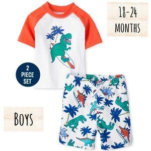 The Children's Place baby Boys Dino Swim Set 18-24